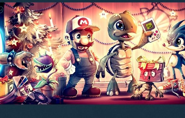 Photo Wallpaper Mario Sonic Game