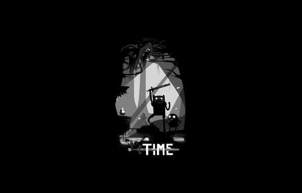 Picture dark, Jake, Adventure Time, Finn