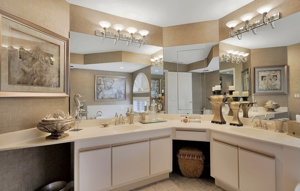 Picture design, pictures, bathroom, mirror, sink