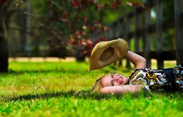 Picture summer, girl, mood, hat