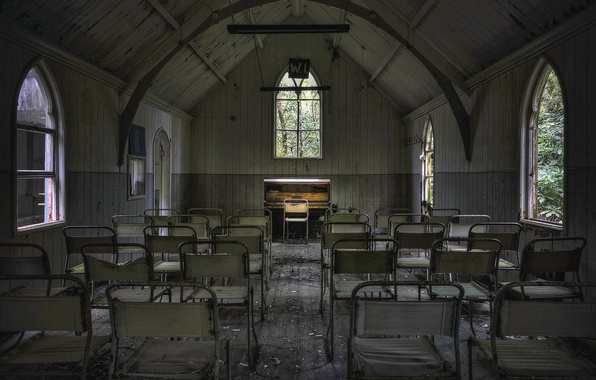 Picture chairs, hall, piano