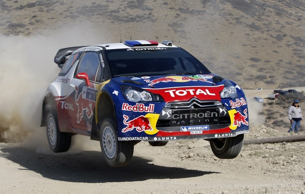 Picture Dust, Shadow, Citroen, DS3, Rally, Rally, In the air, Flies, S. Loeb