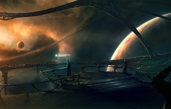 Picture future, soldiers, design, planets, space ship, Sci FI, panel control, outer space planets
