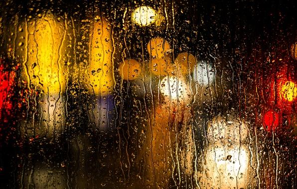 Picture water, drops, surface, rain, color, texture