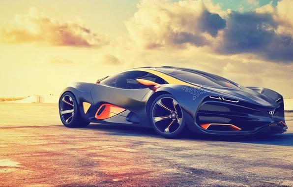 Picture Concept, The sun, The sky, The concept, Sky, Car, Lada, Sun, Supercar, Lada, Supercar, Raven, …