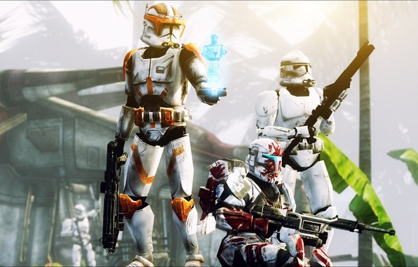 Picture attack, Star wars, Star Wars: The Clone Wars, pearls, Stormtrooper, Clone Commander Cody, The clone …