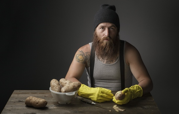 Picture knife, male, potatoes