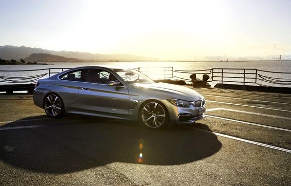 Picture Concept, Auto, Pier, BMW, Machine, Light, Silver, Shadow, Blik, Coupe, 4 Series