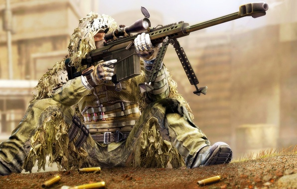 Picture art, soldiers, optics, sniper, sleeve, M82, Barret, red star alliance