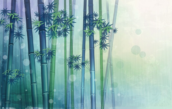 Picture background, figure, bamboo