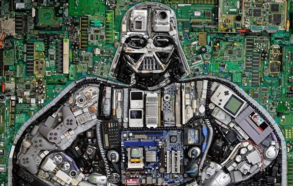 Picture Star Wars, button, Darth Vader, details, Star Wars, Darth Vader, chip, joysticks