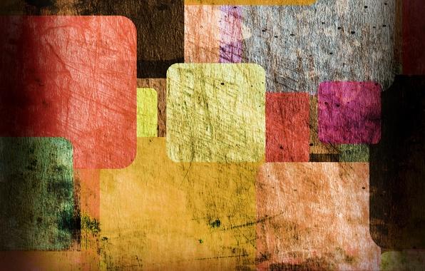 Picture texture, colorful, vintage, Colored vintage, rectangles