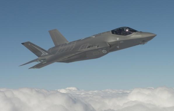 Picture fighter, flight, bomber, Lightning II, F-35