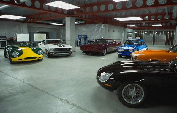 Picture machine, garage, sports cars, Furious 6, Dodge Daytona, fast and furious 6