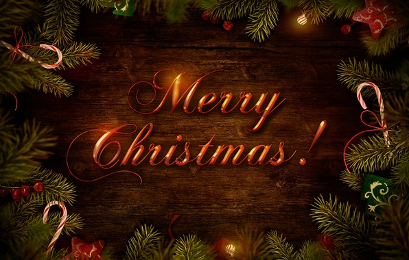 Picture branches, tree, congratulations, Christmas decorations, merry christmas