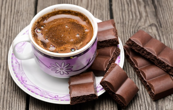 Picture coffee, chocolate, Cup, cup, chocolate, beans, coffee
