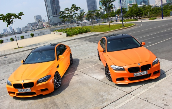 Picture BMW, City, Orange, Matte, Tuning, F10