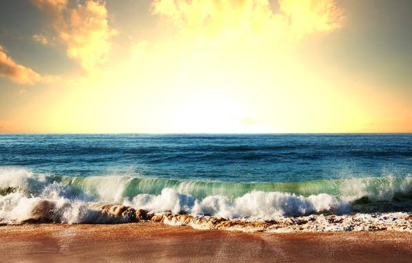 Picture photo, The sky, Nature, Sea, Wave, Coast