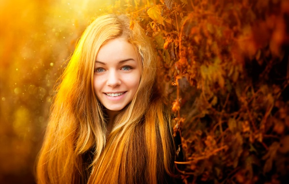 Picture smile, the beauty, baby, I love the sun