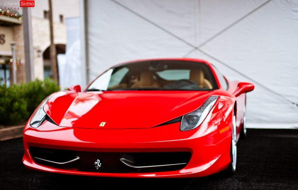 Picture machine, auto, before, Ferrari, red, 458, auto, Italia, Charles Siritho