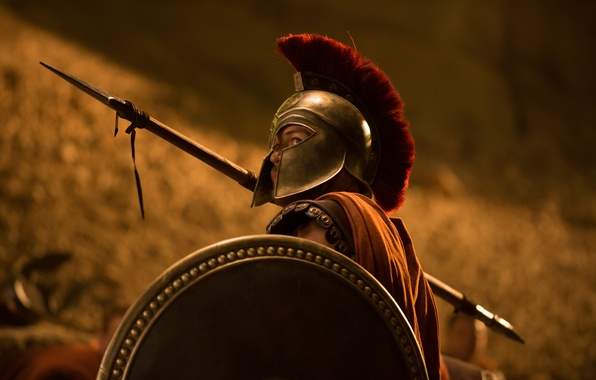 Picture warrior, fantasy, spear, shield, action, Hercules the Beginning of the legend, The Legend of Hercules