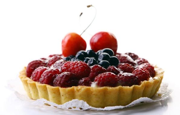 Picture cherry, berries, raspberry, food, blueberries, pie, cake, cream, dessert, food, 1920x1200, sweet, sweet, cherry, blueberry, …