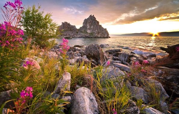 Picture photo, Nature, Lake, Baikal, Stones, Russia, Landscape, Baikal