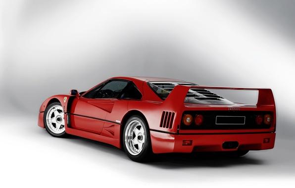 Picture background, Ferrari, supercar, F40, Ferrari, 1989