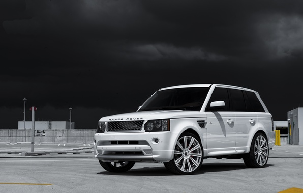 Picture white, the sky, sport, white, side view, land rover, range rover, range Rover, land Rover