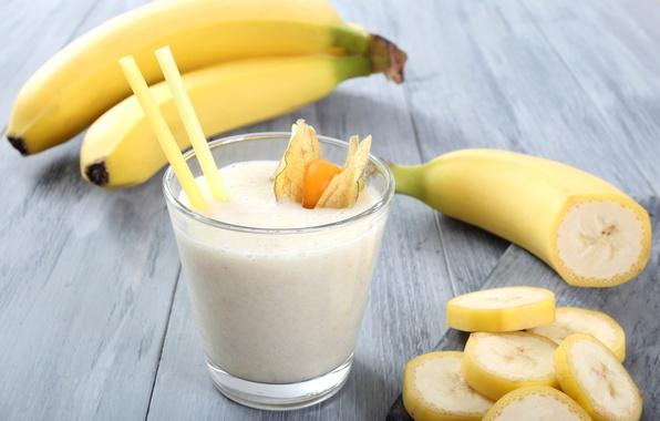 Picture milk, bananas, cocktail, drink, cocktail, milk