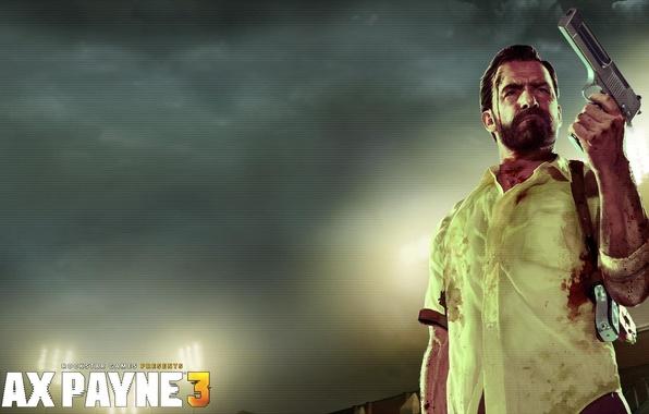 Picture Blood, Weapons, Bristles, Shirt, Desert Eagle, Guns, rockstar games, desert eagle, Max Payne 3, payne, …
