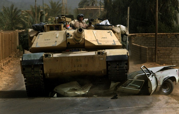 Picture soldiers, tank, usa, abrams