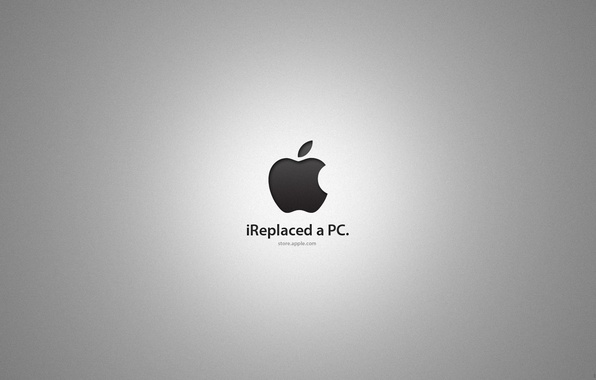 Picture apple, mac, logo, ireplaced a pc