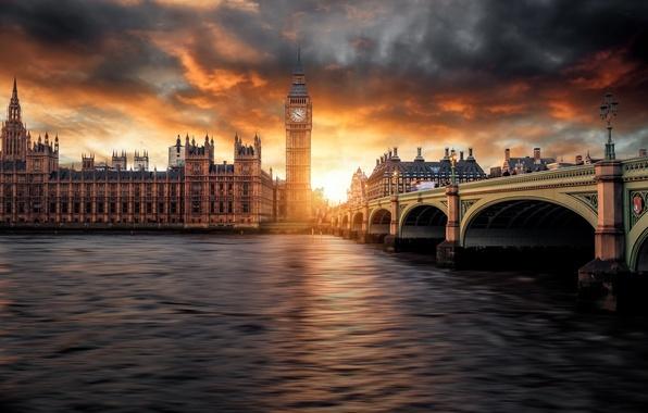 Picture the sky, clouds, sunset, London, Big Ben, photographer, Parliament, Guerel Sahin