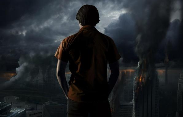 Picture night, the city, fire, Mojtaba Naderlou, IRAN