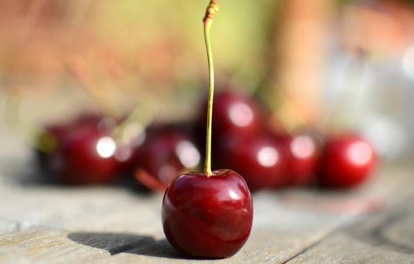 Picture macro, cherry, table, berry, cherry, sweet