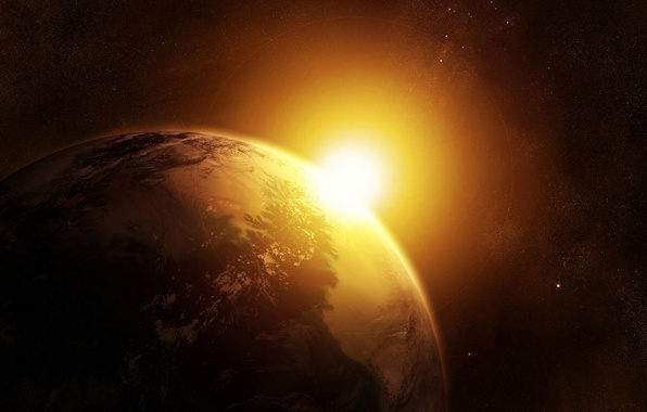 Picture the sun, earth, the universe, star, planet