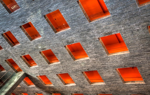 Picture light, house, wall, Windows, the bridge