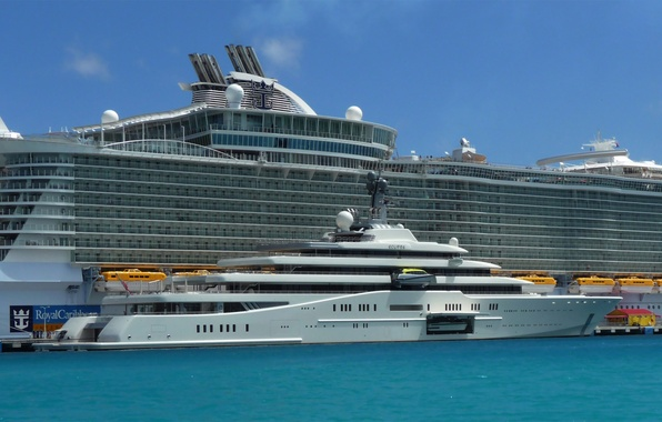 Picture sea, the sky, ship, yacht, liner, cruise