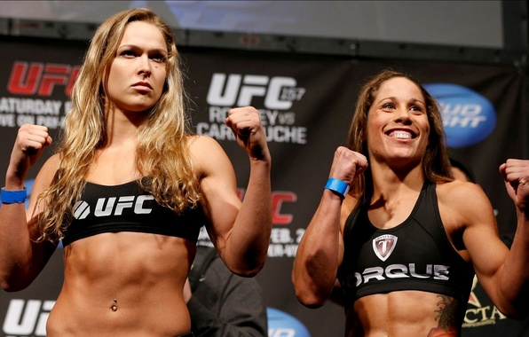 Picture girls, fight, mixed, MMA, extreme, UFC, fitness, martial arts, Ronda Rousey