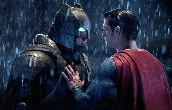 Picture fiction, rain, costume, helmet, Batman, Ben Affleck, comic, Superman, Clark Kent, Bruce Wayne, Henry Cavill, ...