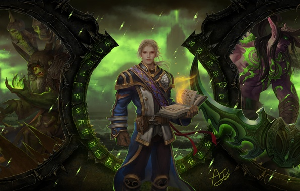 Picture magic, the game, art, book, World of Warcraft, guy, spell, MMORPG, Legion's system specs