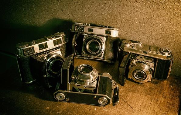 Photo wallpaper cameras, old, vintage