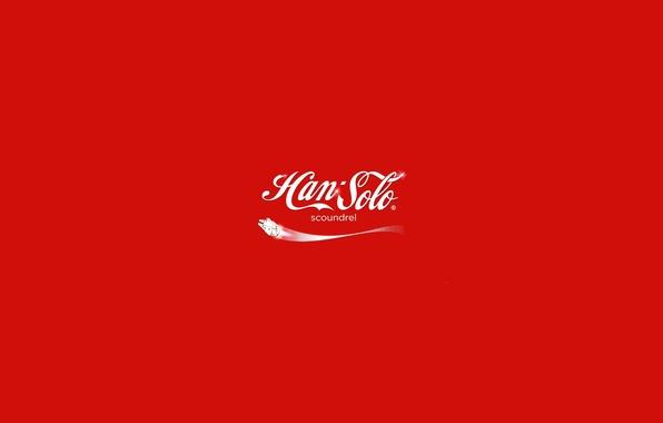 Picture background, logo, Coca-Cola, Han Solo, Millenium falconб