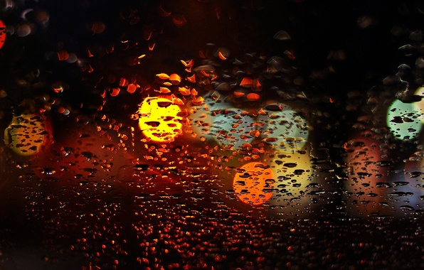 Picture glass, water, drops, macro, lights, background, rain, widescreen, Wallpaper, blur, window, wallpaper, widescreen, background, bokeh, …