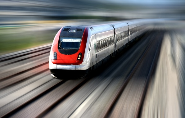 Picture movement, train, speed