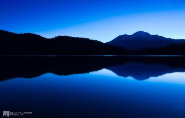 Picture lake, mountain, twilight, photographer, peace, Kenji Yamamura