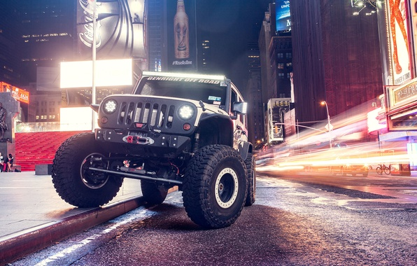 Picture car, night, street, tuning, SUV, Supercharged, Jeep Wrangler, Automotive Photography, Andrew Link