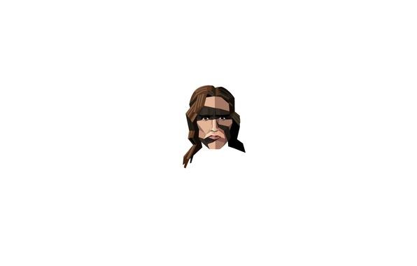 Picture face, minimalism, Arnold Schwarzenegger, Conan