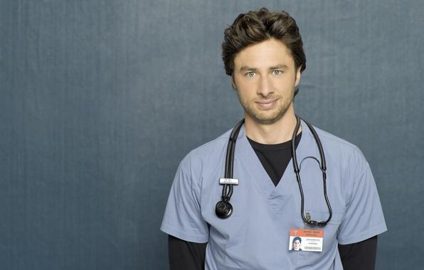 Picture the series, Scrubs, clinic, Zach Braff, Zach Braff